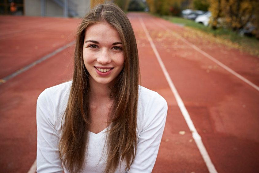 Michelle Müller lief 2014 an der Jugendolympiade in Nanjing 400 Meter über Hürden auf den fünften Rang.