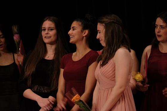 Die Preisträgerinnen Olivia Forrer, Yudum Kaya, Sandra Weber.