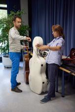 Die Musiker treffen ein...