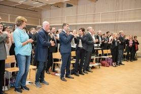 Der Kammerchor aktiviert das Publikum...