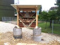 Insektenhotel vor dem Pavillon