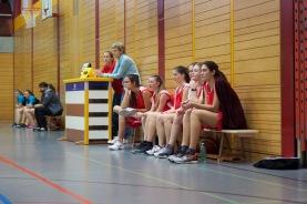 Die Muttenzer Bank (Anina, Lara, Nathalie, Andrea, Cecile und Ylenia) und M.Rohner und P.Hafen als Helferinnen
