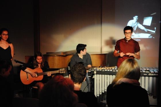 Von links nach rechts: Maìra Zaugg, Rahel Müller, Lukas Schweizer und Nico Caccivio
