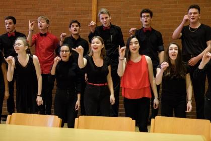 Der Kammerchor ist in bester Verfassung für seine Auftritte am Jugendchorfestival...