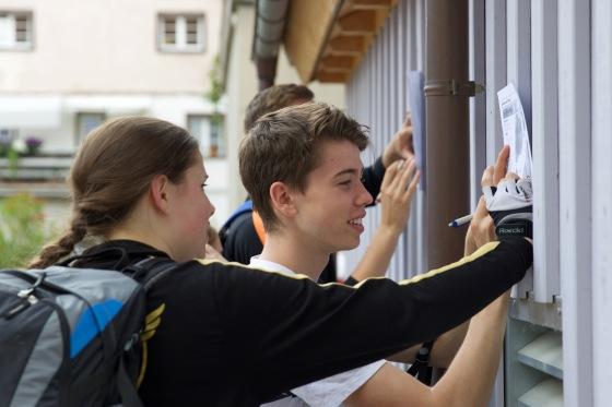 Jonas und Alex beim Oberrheinquiz in Staufen