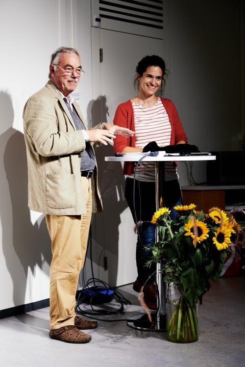 Luzius Lenherr (ehemaliger Rektor) und Flavia Manella.