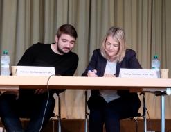 Patrick Wolfgang (Junge glp BL) undGaby Gerber (FDP AG)