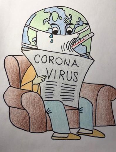 Corona Virus, von Sabrina Cesja
