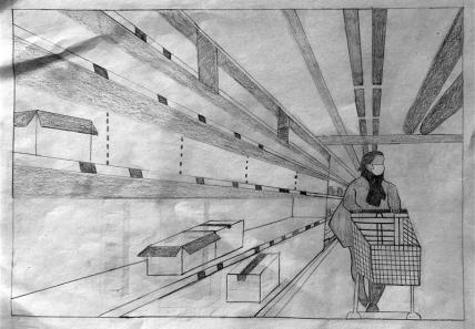 Heute im Supermarkt, von Lisa Sogor
