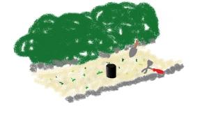 Gartenarbeit, von Moritz Kappeler