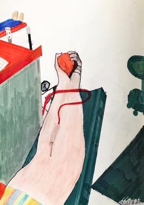 Blut spenden, von Xenia Bucheli
